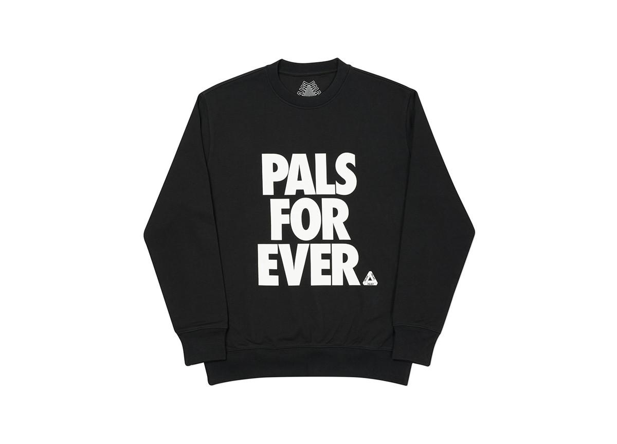 Palace Pals Crew Nike Font Black