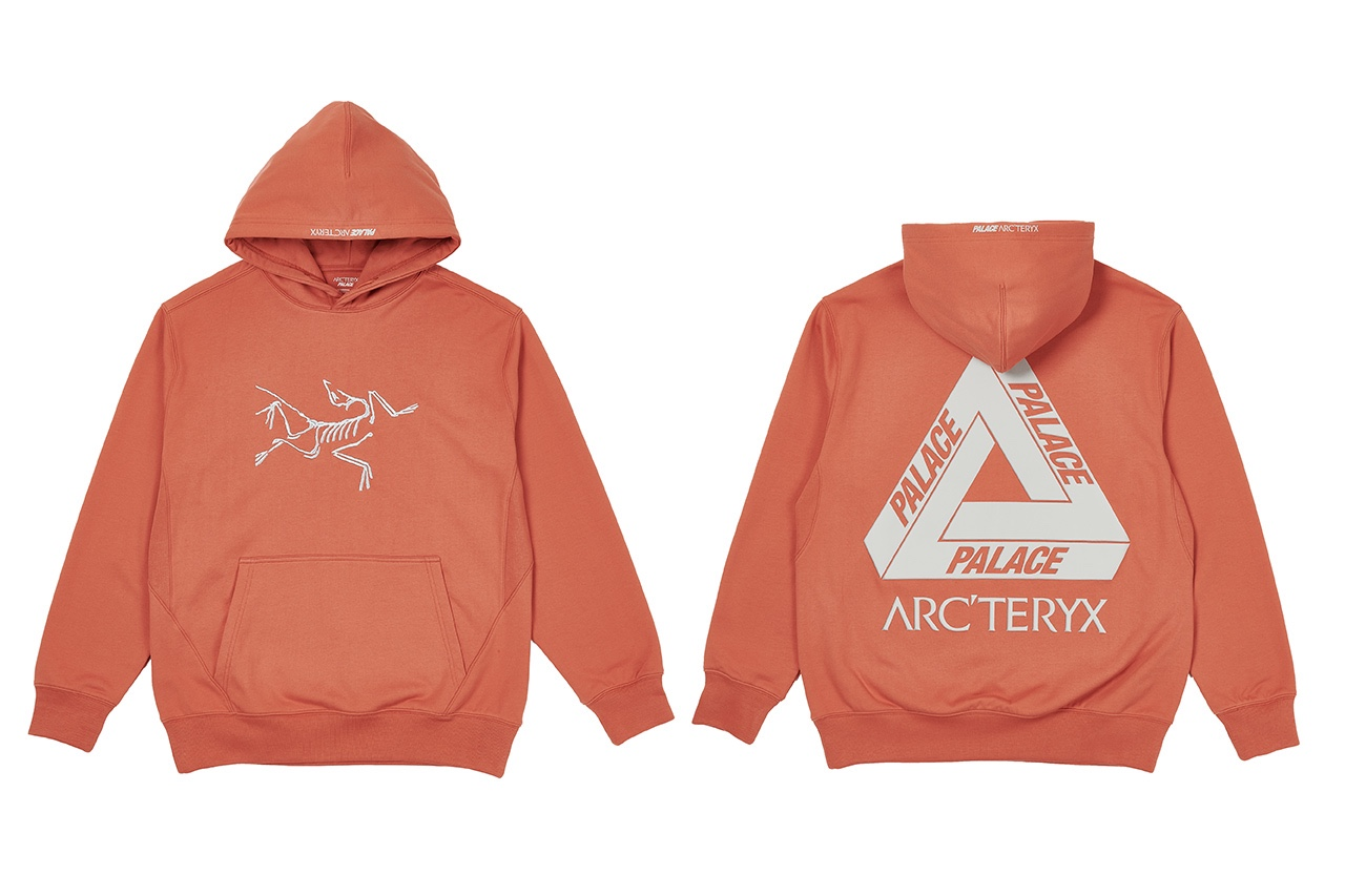Palace x Arcteryx Hoodie Orange
