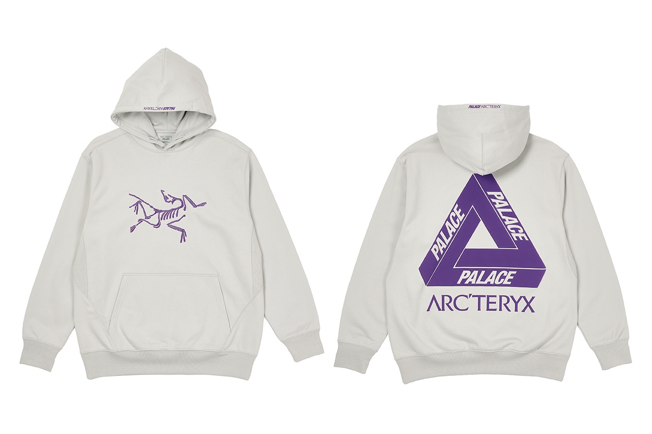 Palace x Arcteryx Hoodie Grey