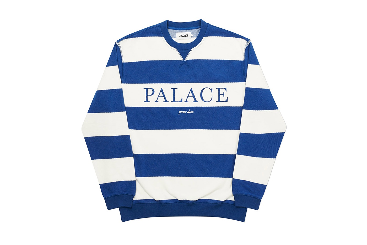 Palace striped crewneck