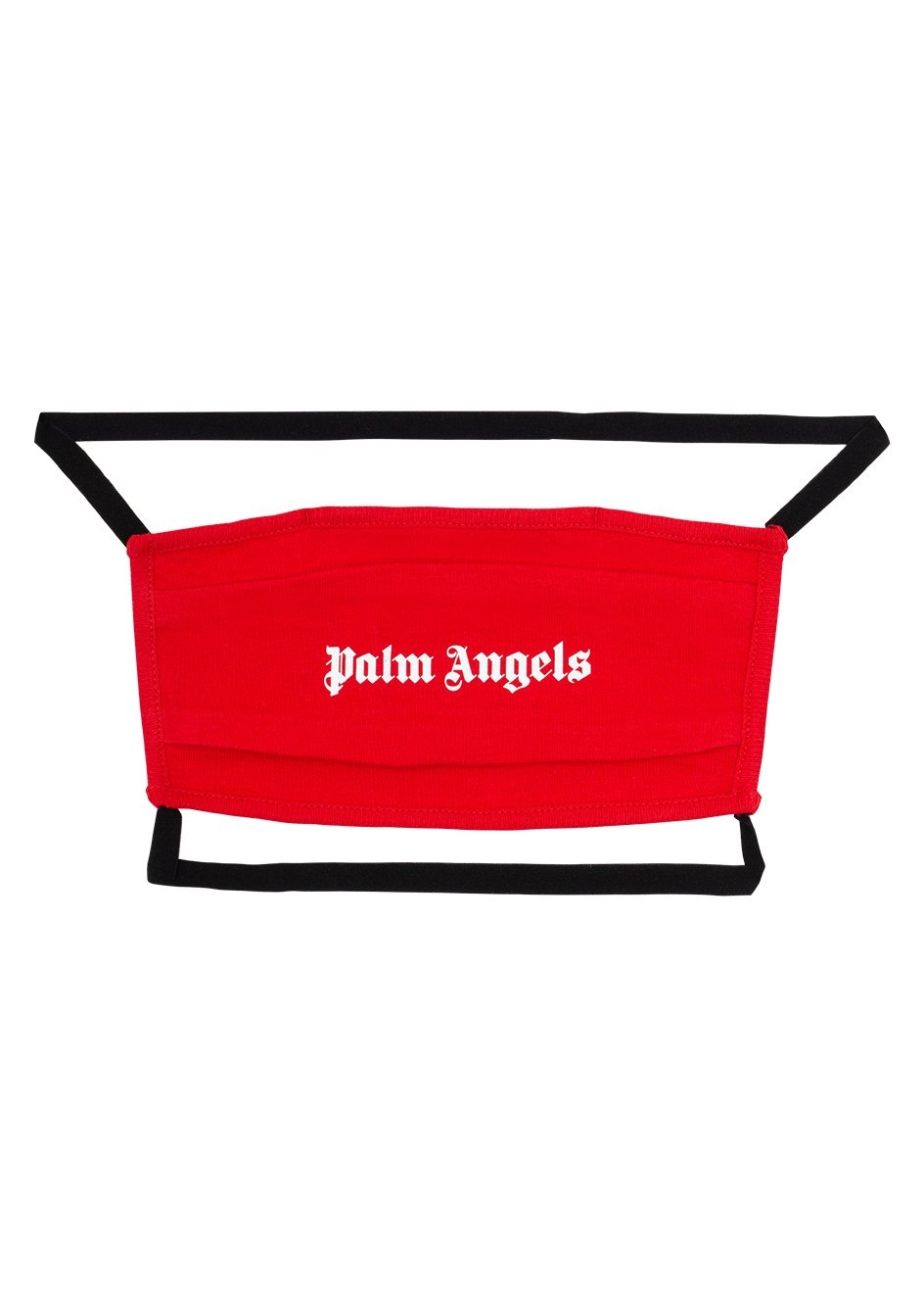 Palm Angels Face Mask rossa con logo