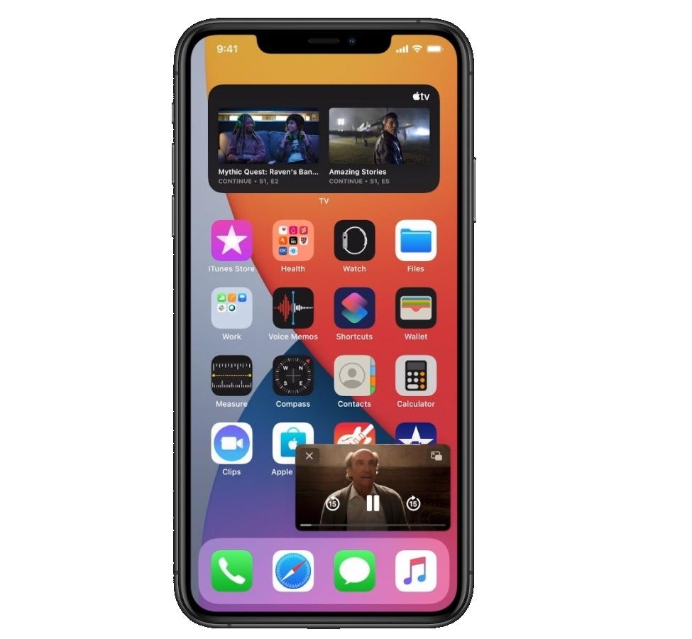 iOS14 Picture In Picture riproduzione video