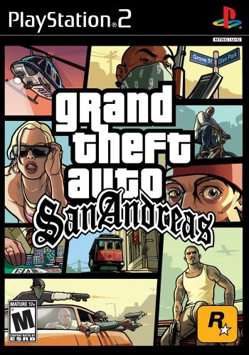 PlayStation 2 GTA San Andreas gioco