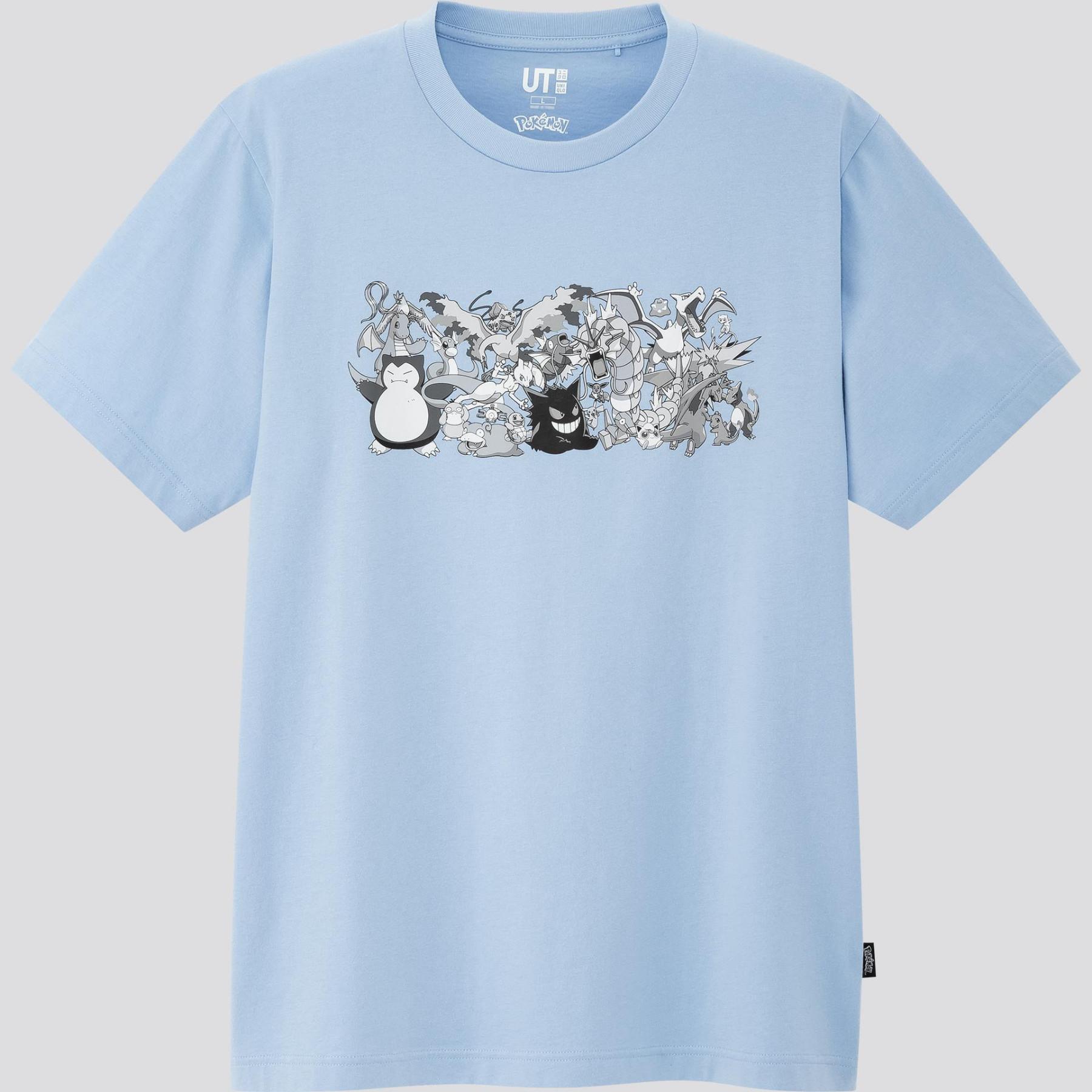 Pokémon x UNIQLO Light Blue T-Shirt