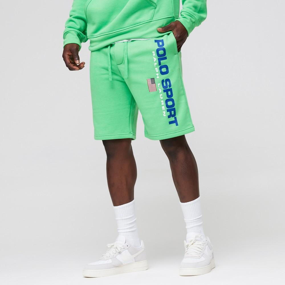 Polo Ralph Lauren Shorts verde scritta blu