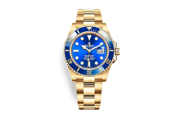Rolex Submariner 2020 oro e blu