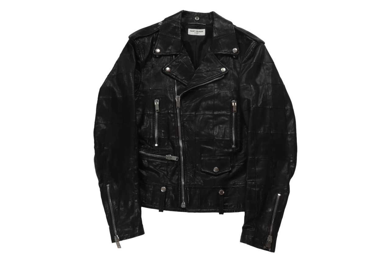 Saint Laurent Leather Jacket nera