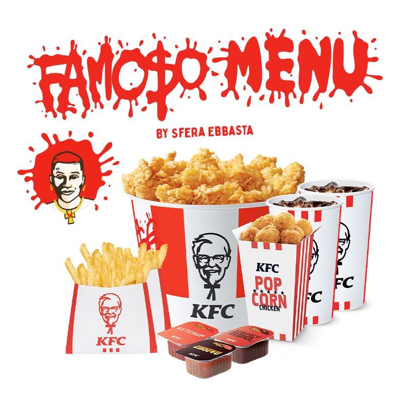 Sfera Ebbasta x KFC menu