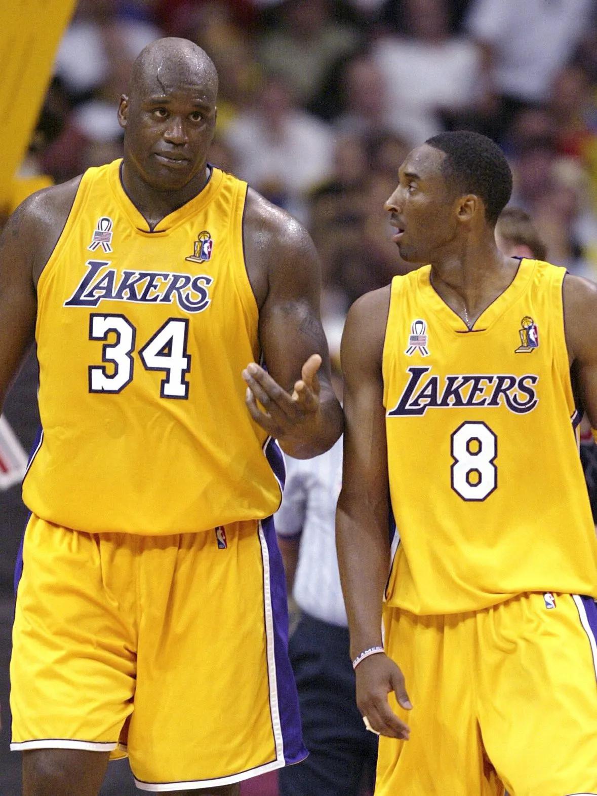 Shaquille O'Neal e Kobe Bryant Lakers 2000
