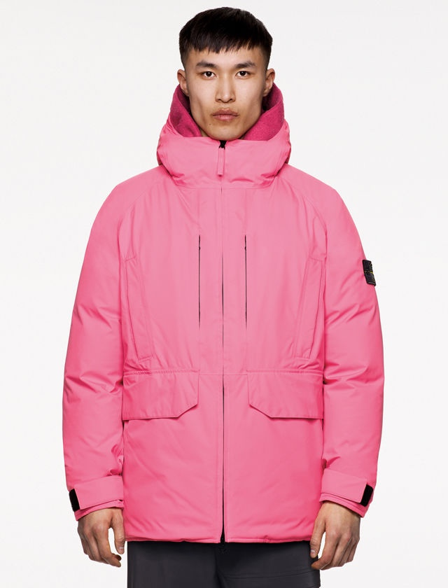 Stone Island GORE-TEX jacket pink