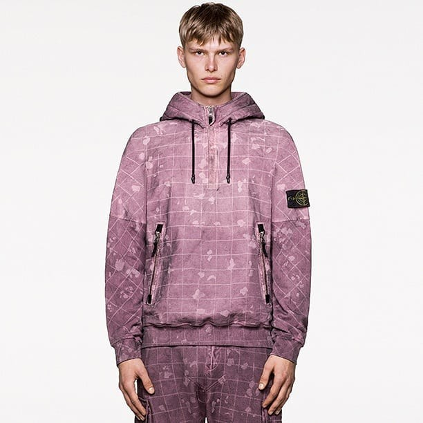 "Stone Island ""Ghillie Laser Camo"" hoodie pink"