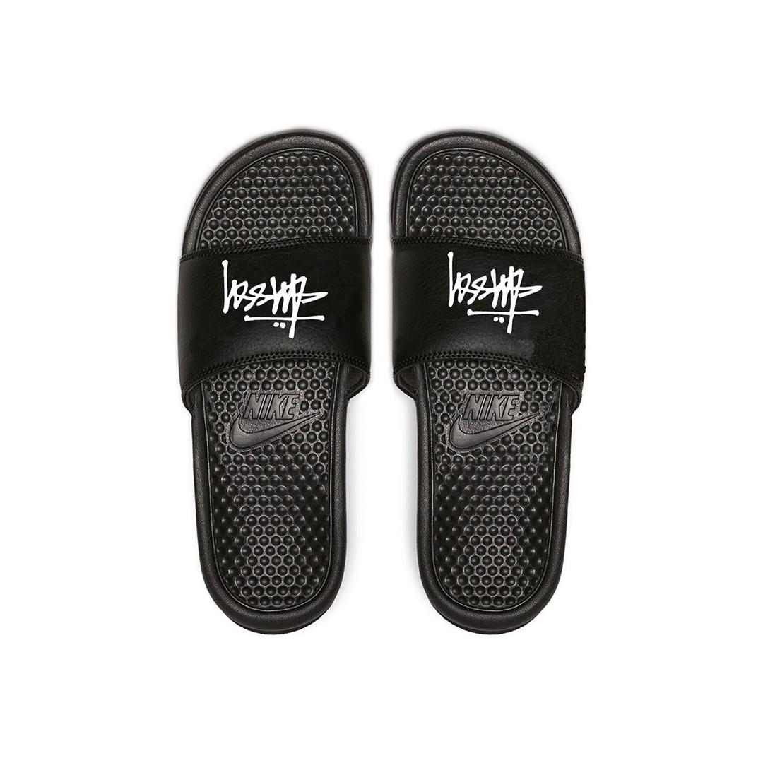 Stussy x Nike Benassi Slides