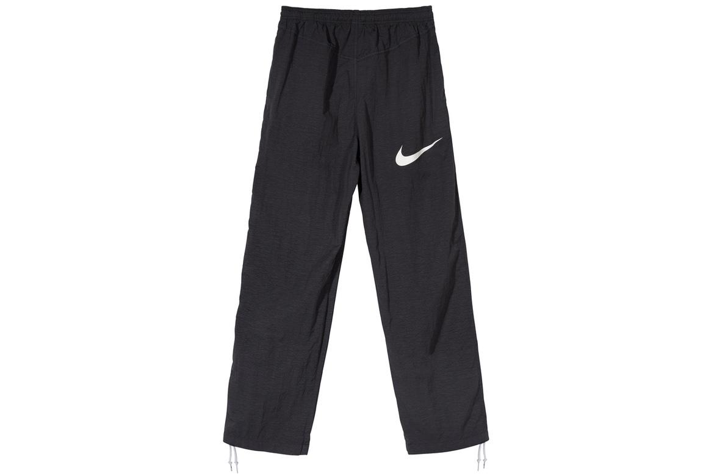 Stussy x Nike Pantalone Sportivo Nero con Logo Nike