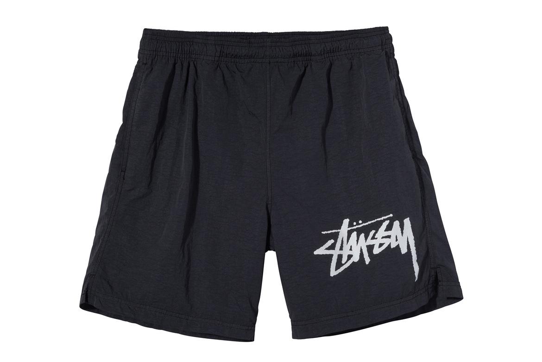 Stussy x Nike T-Shirt Pantaloncino Nero con Logo Stussy