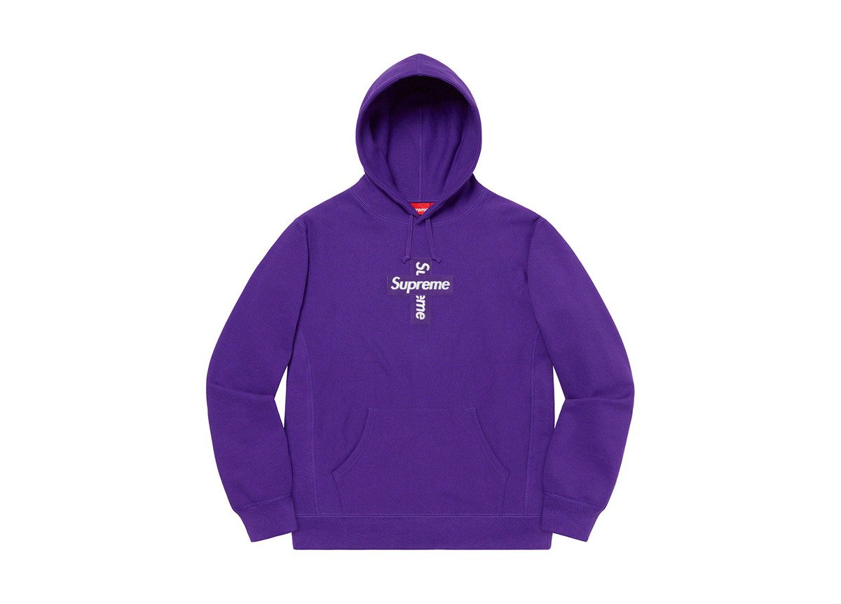 Supreme Cross Box Logo Purple