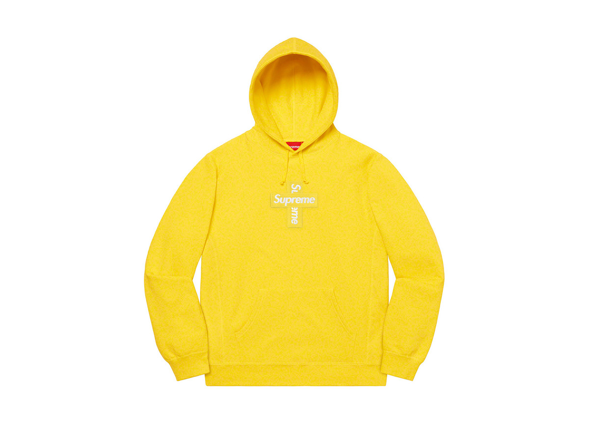Supreme Cross Box Logo Lemon