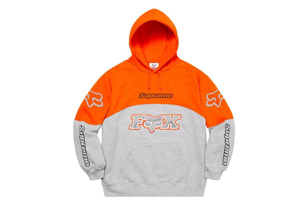 Supreme x Fox Racing hoodie