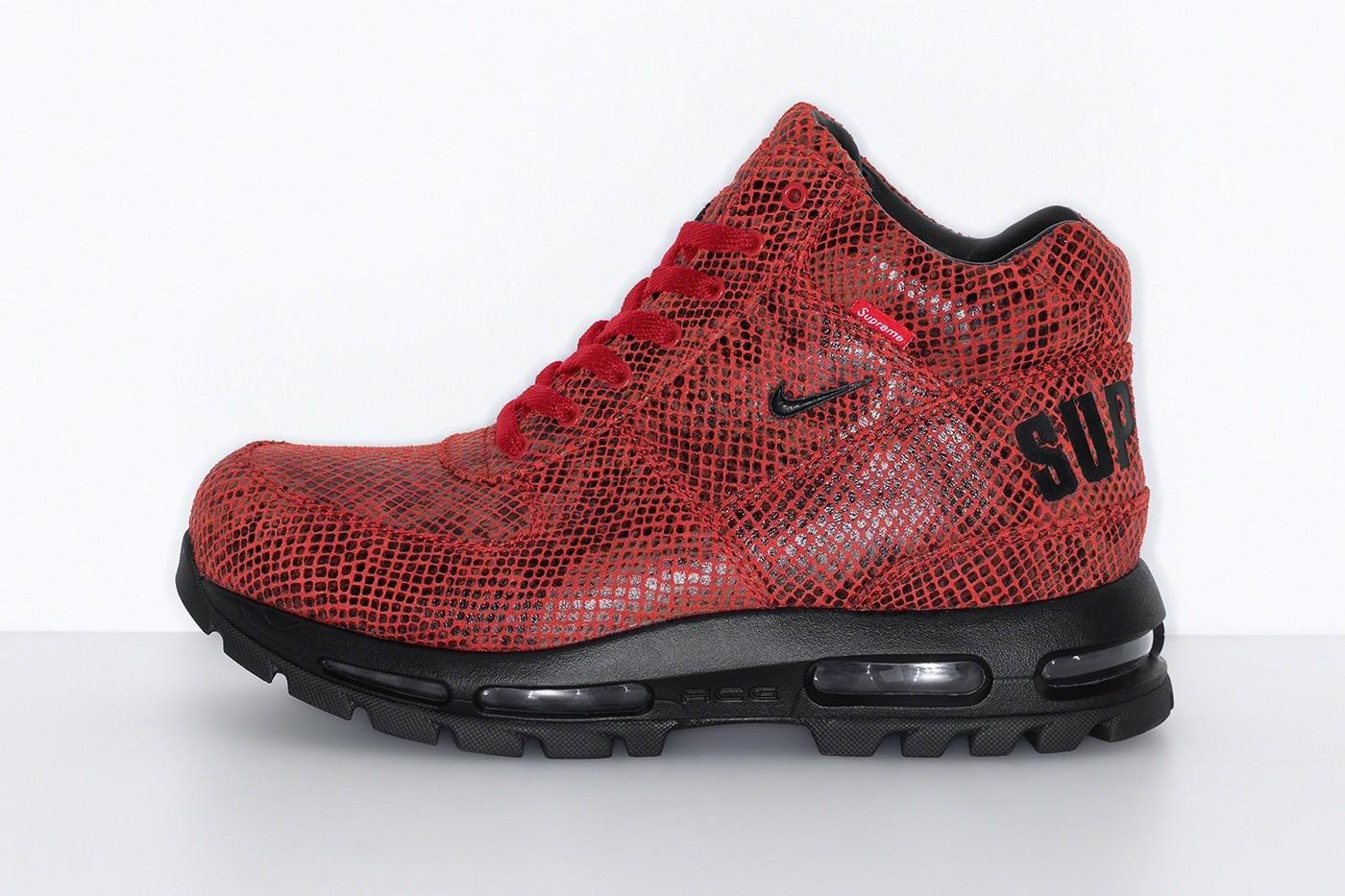 Supreme x Nike Air Max Goadome Boots red