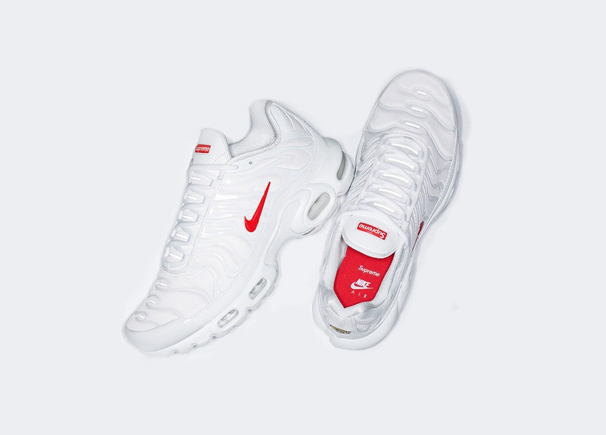 "Supreme x Nike Air Max Plus ""Red/White"""