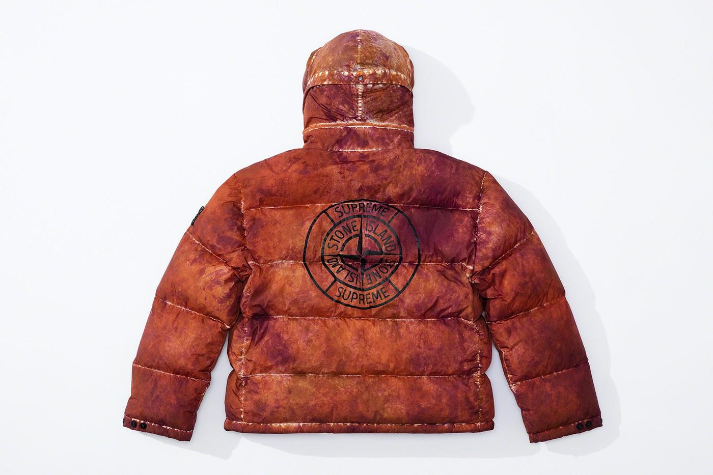 Supreme x Stone Island Camo Down Jacket