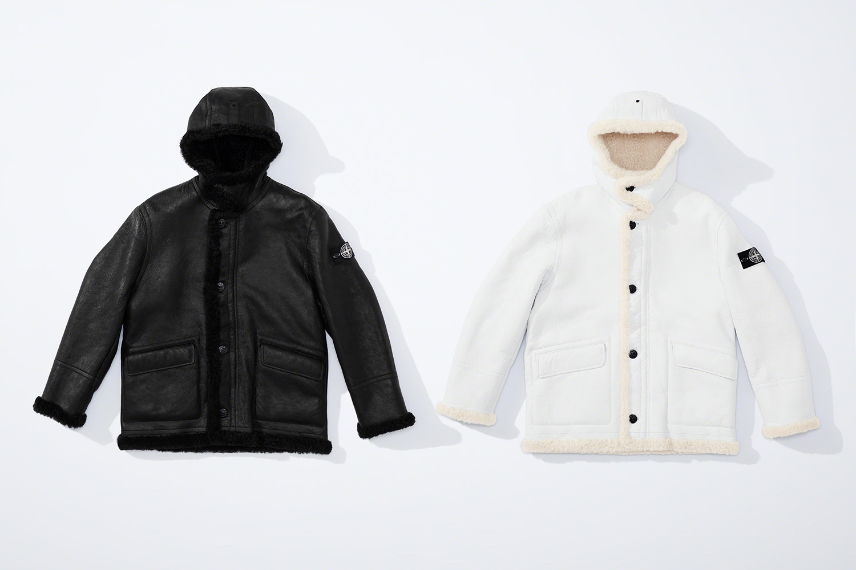 Supreme x Stone Island FW20 shearling jacket