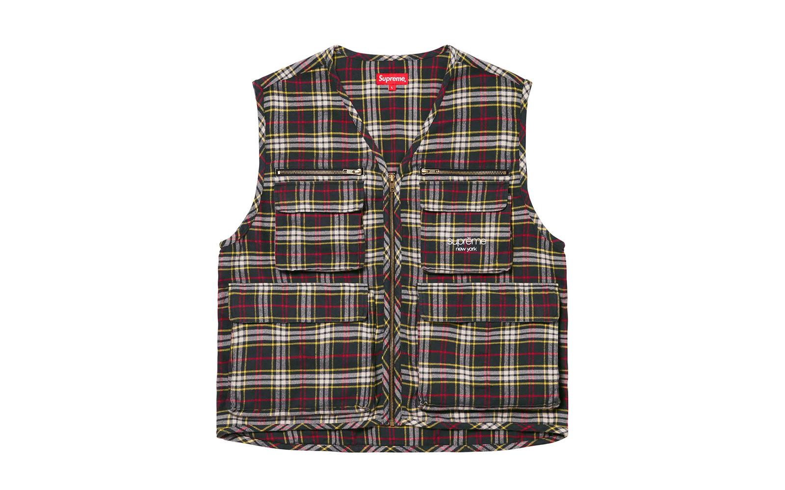 Supreme Tartan Flannel Cargo Vest