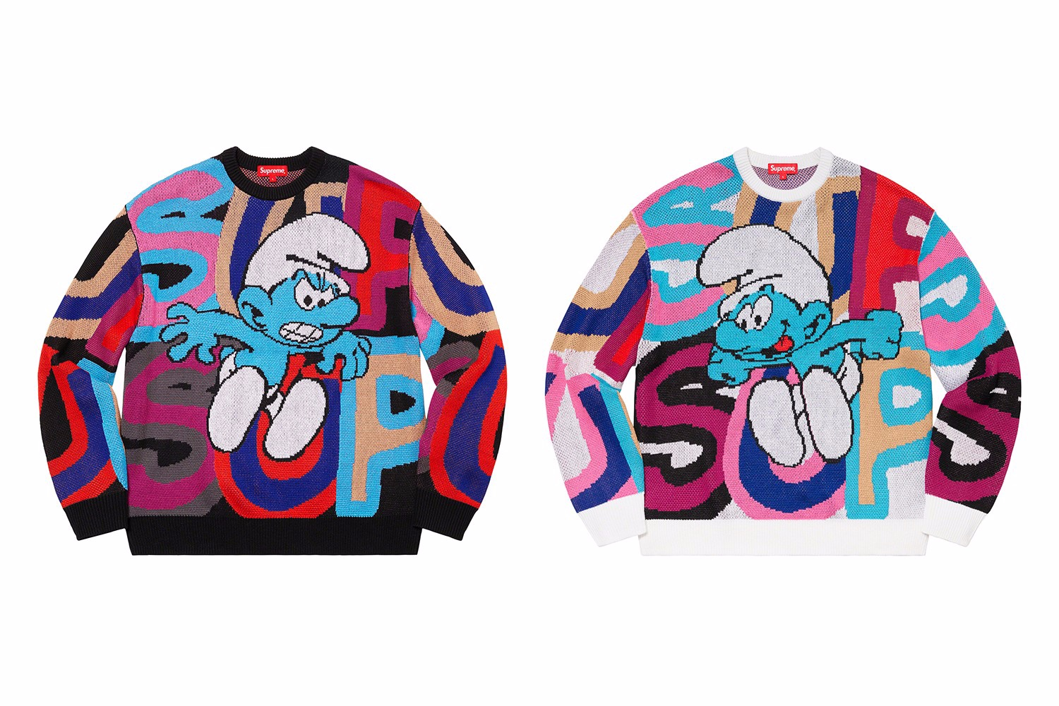 "Supreme x ""The Smurfs"" I Puffi sweater"