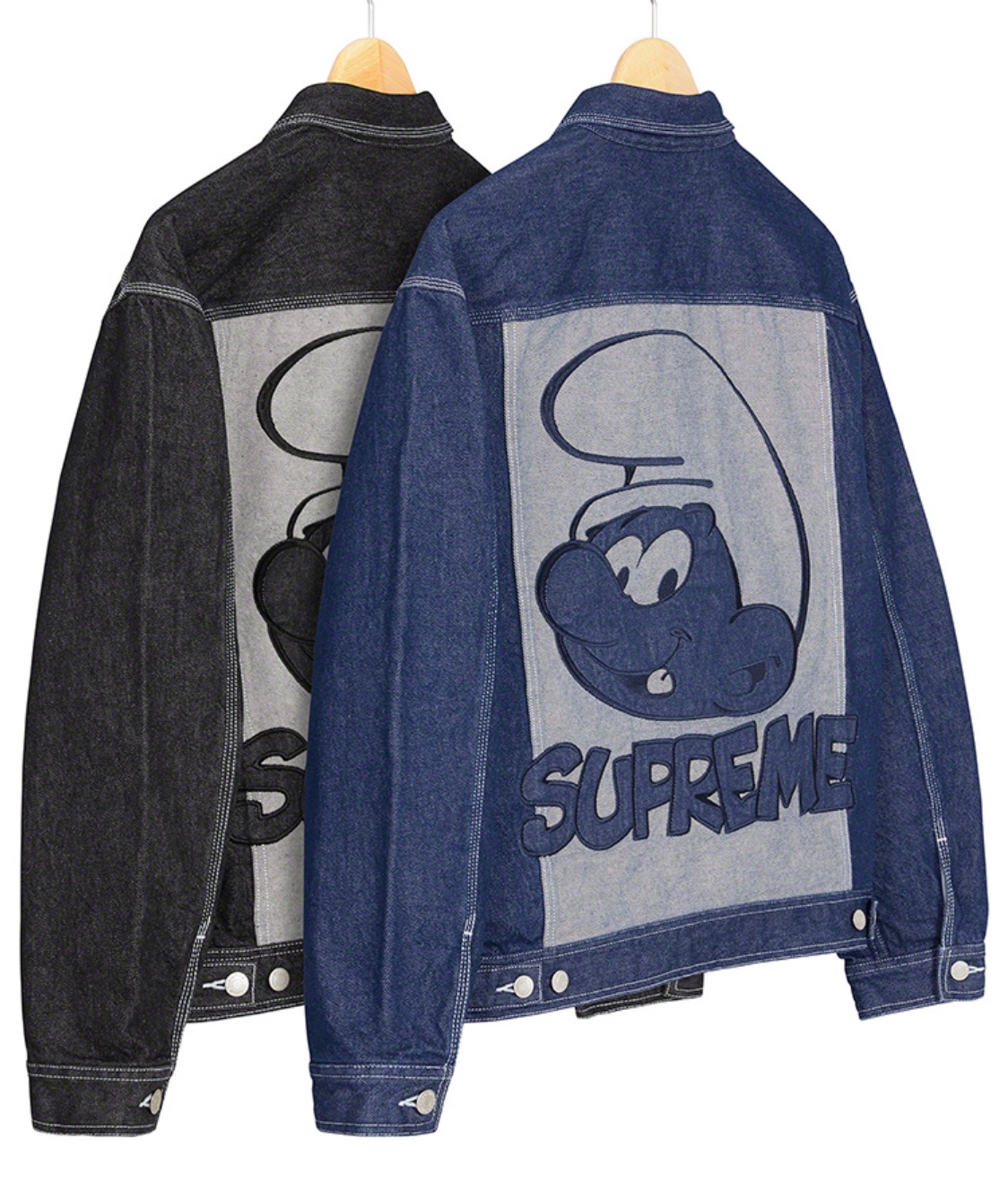 Supreme x The Smurfs denim jacket