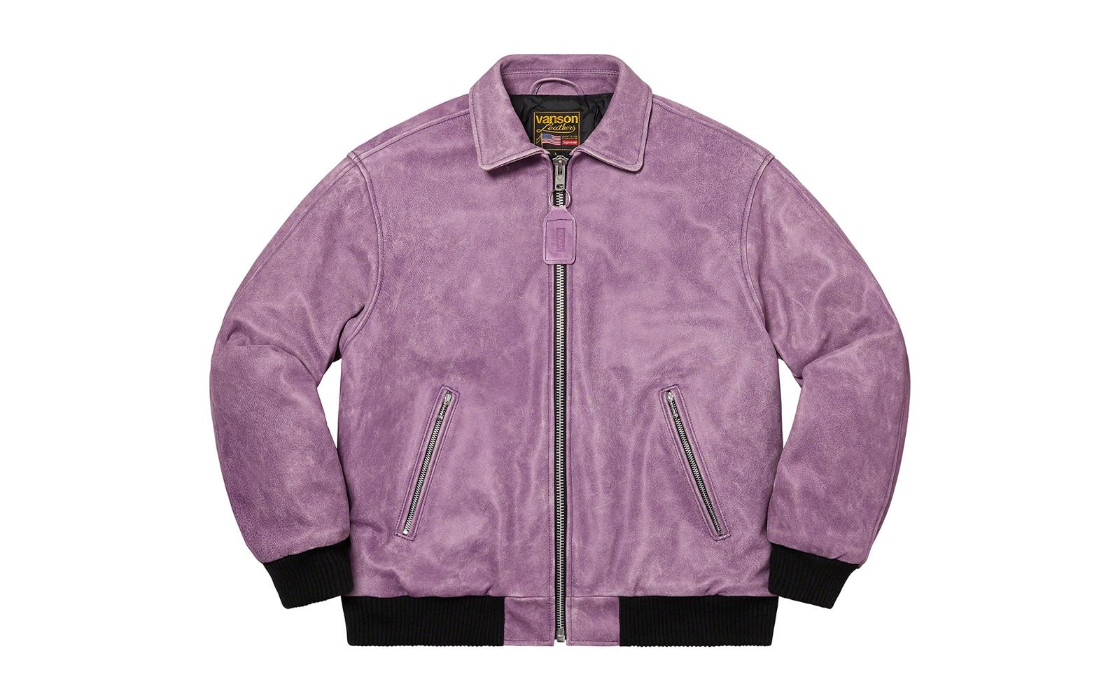 Supreme/Vanson Leathers Worn Leather Jacket