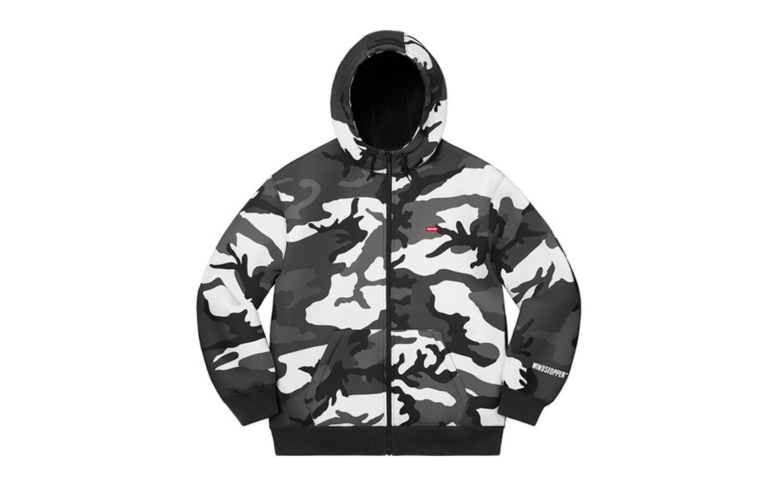 Supreme WINDSTOPPER Zip Up Hooded Sweatshirt