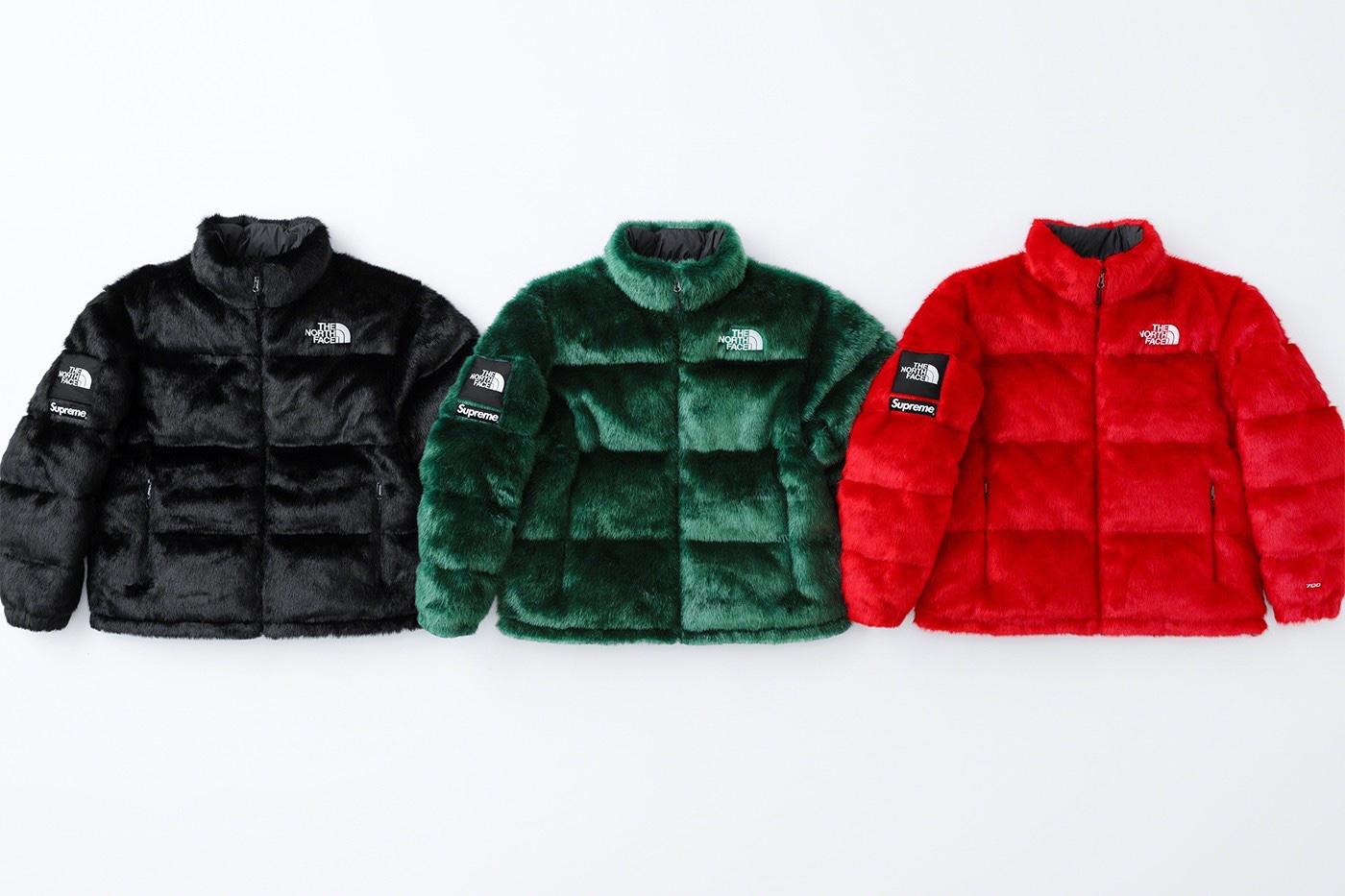 Supreme x The North Face Faux Fur Nuptse Jacket