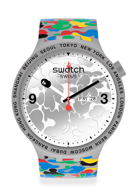 Swatch x BAPE Tokyo - Grey Multi Camo orologio