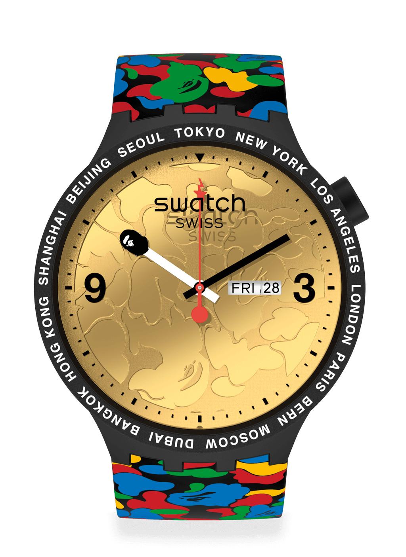 Swatch x BAPE Tokyo - Black Multi Camo orologio