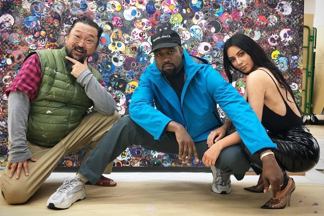 Takashi Murakami, Kanye West, Kim Kardashian