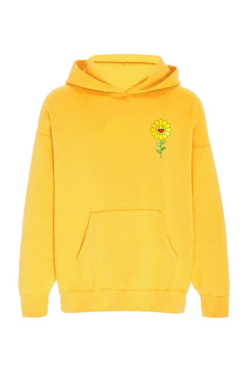 Takashi Murakami x J Balvin Capsule Collection hoodie gialla margherita