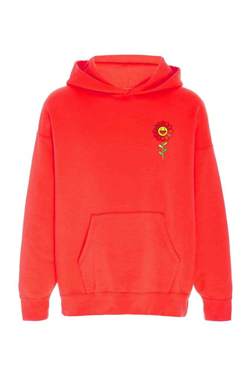 Takashi Murakami x J Balvin Capsule Collection hoodie rossa