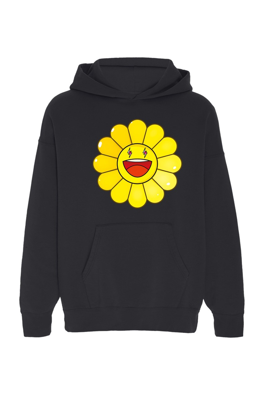 Takashi Murakami x J Balvin Capsule Collection hoodie nera margherita