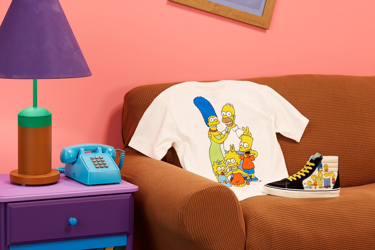 The Simpsons x Vans T Shirt e sneakers famiglia Simpsons