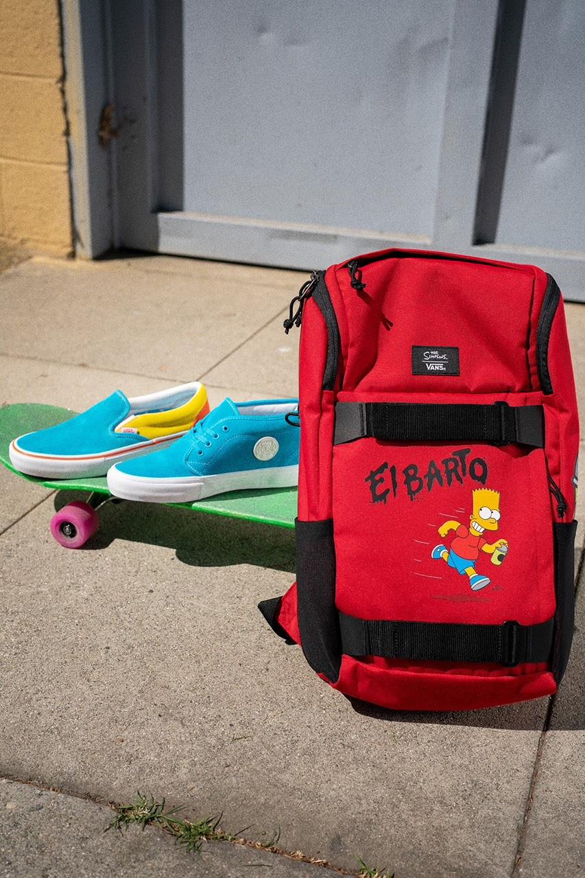 The Simpsons x Vans Zaino rosso e Sneaker El Barto