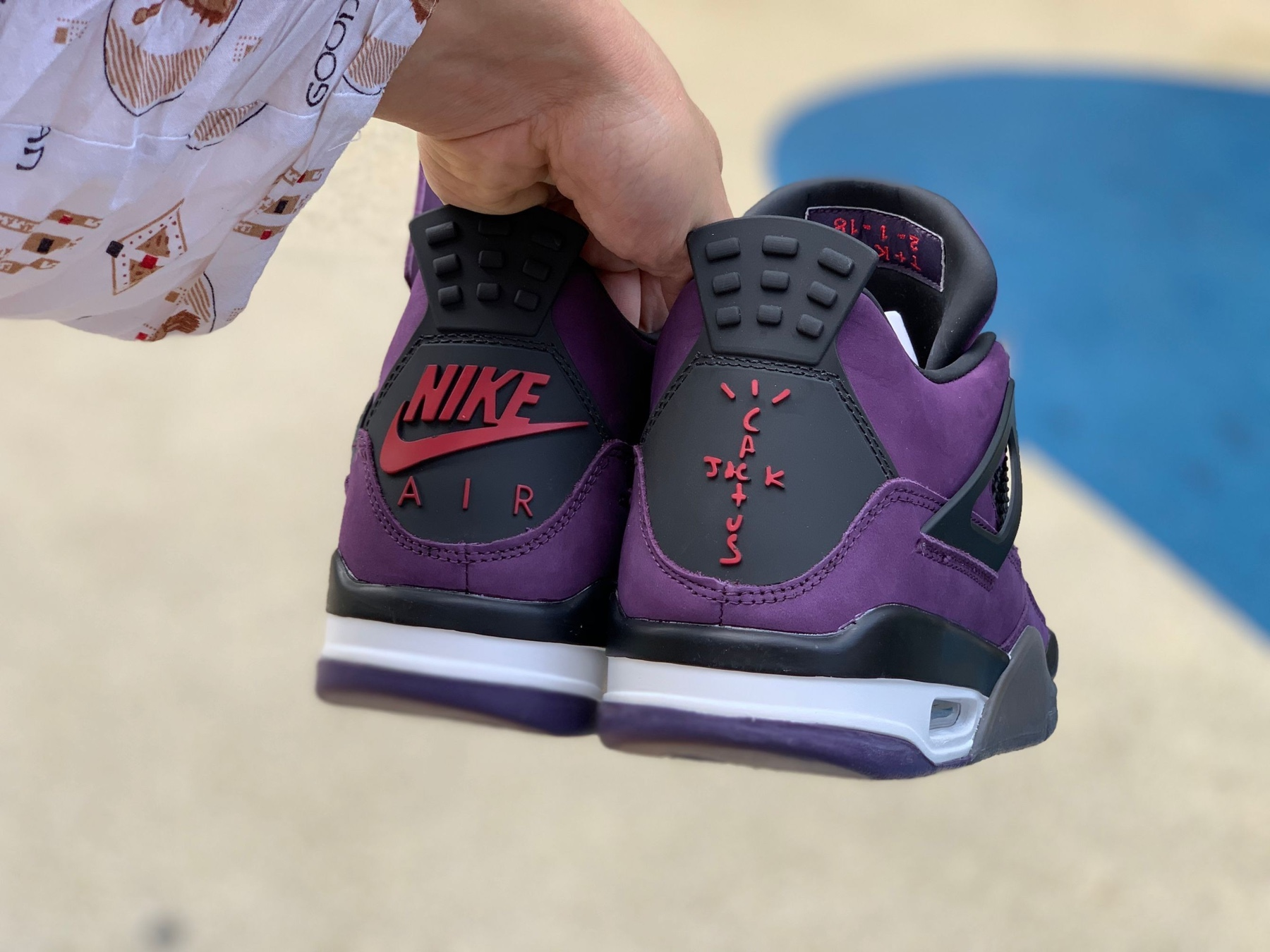 Travis Scott x Air Jordan 4 Purple