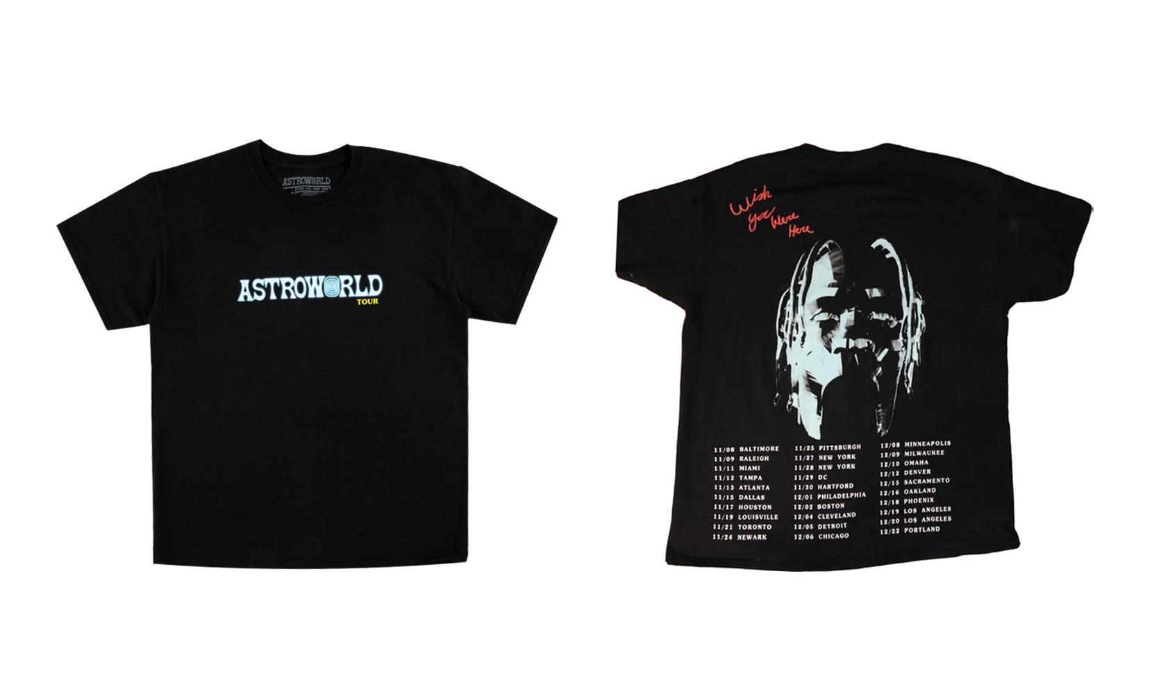 Travis Scott Astroworld Tour Tee Black