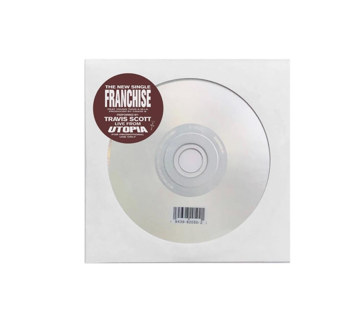 Travis Scott Franchise White Tee CD