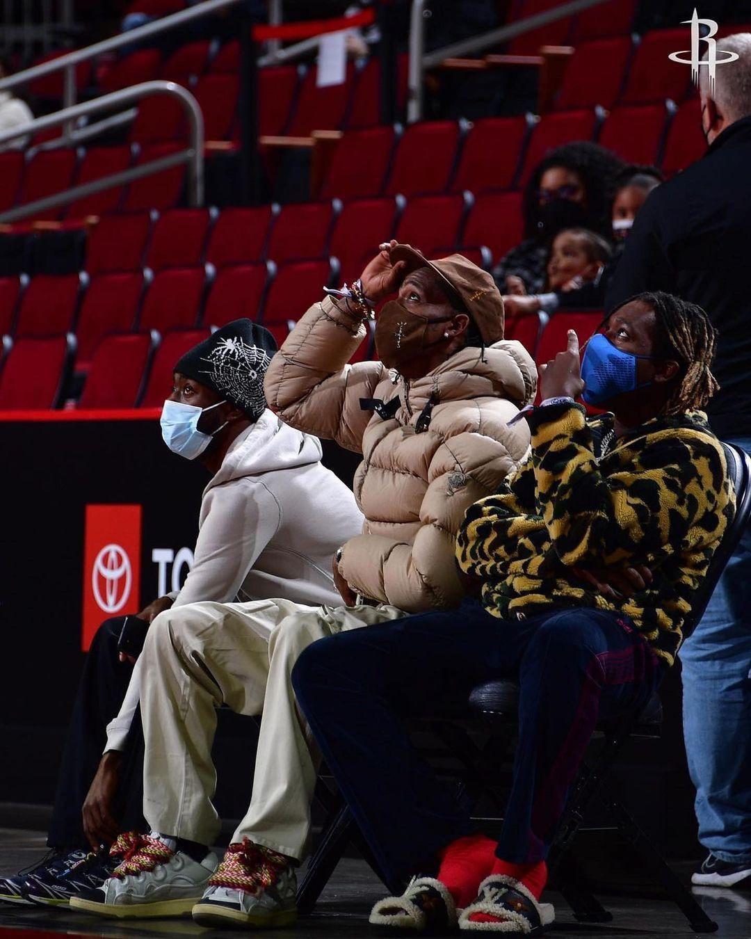 Travis Scott game Houston Rockets vs Los Angeles Lakers