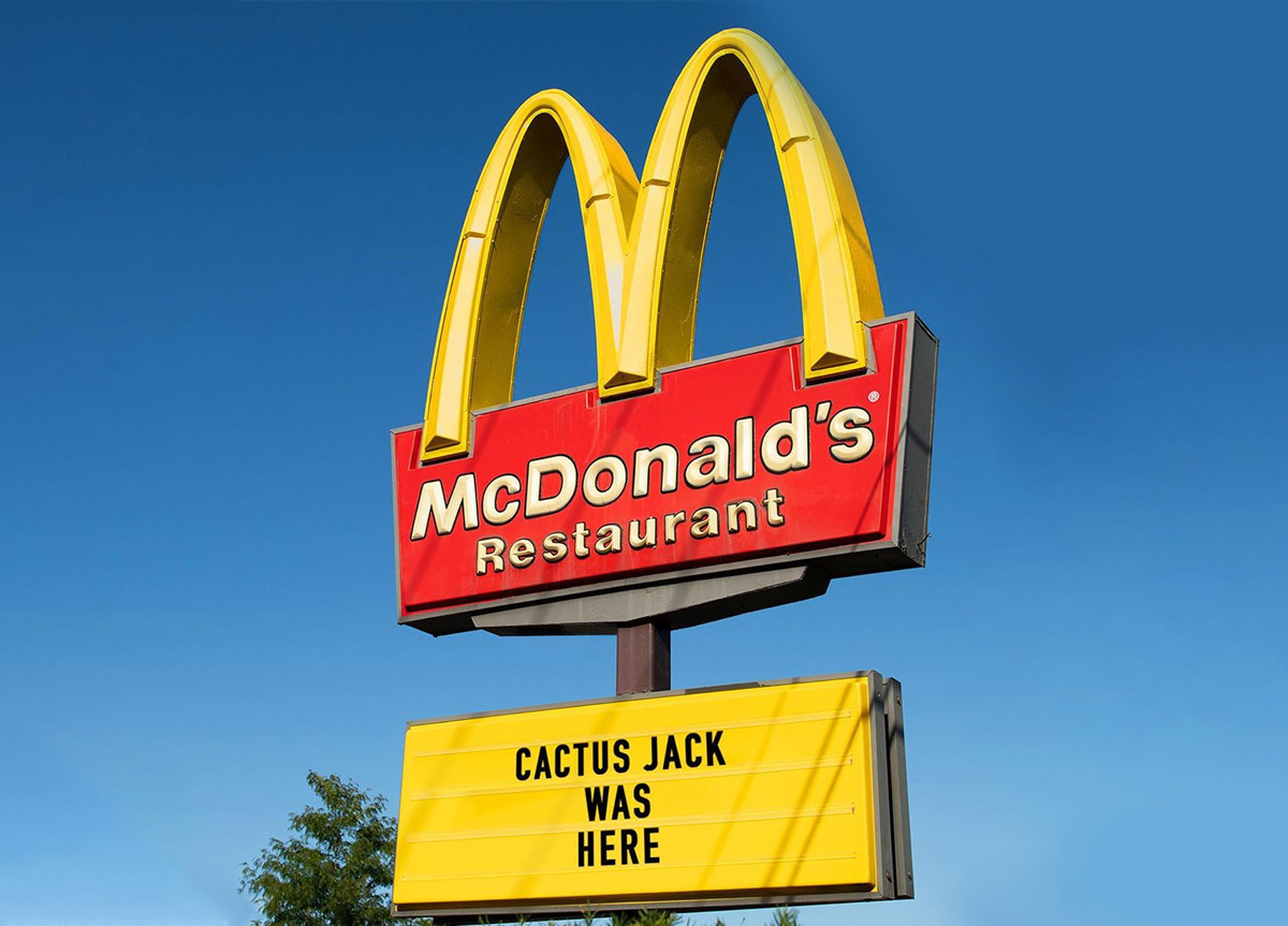 Travis Scott x McDonald's insegna
