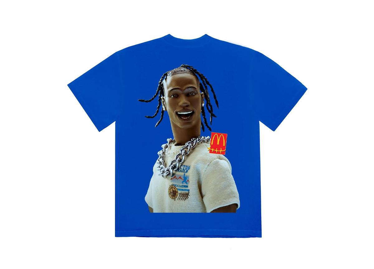 Travis Scott x McDonald's T-shirt blu