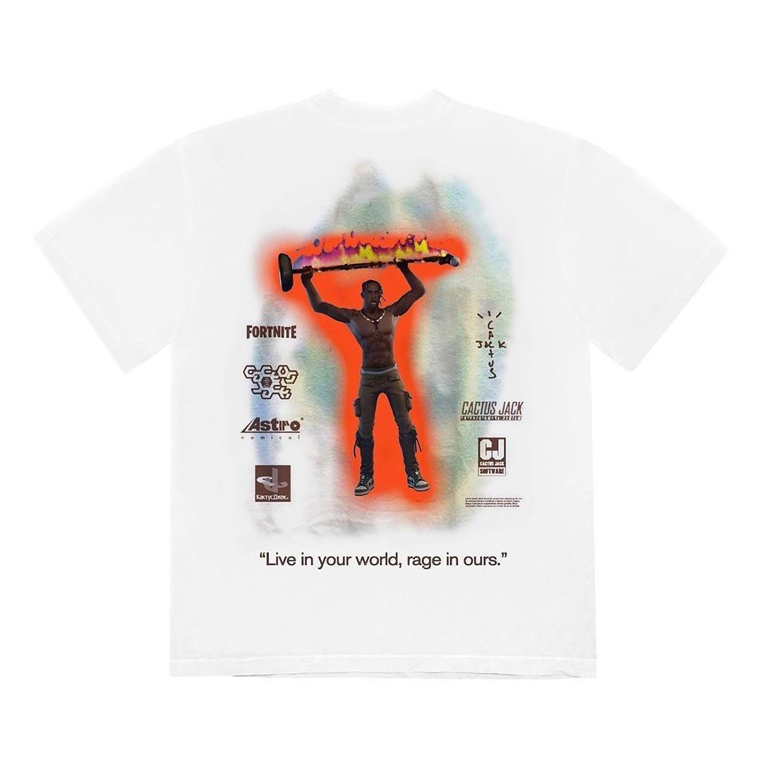 Travis Scott Skin T-Shirts x Fortnite