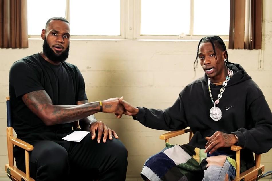 Travis Scott e LeBron James