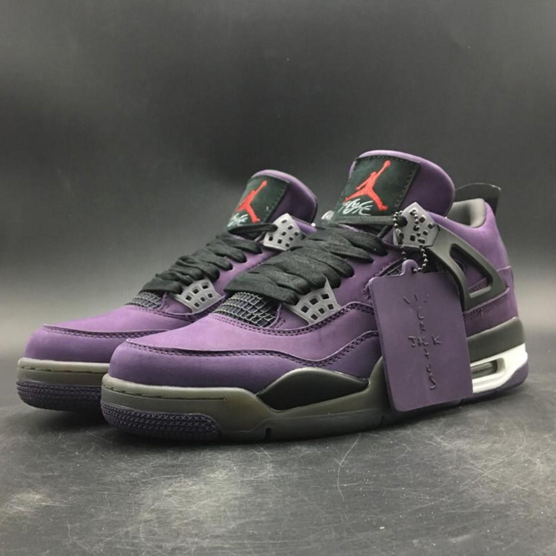 Travis Scott x Air Jordan 4 FF Purple