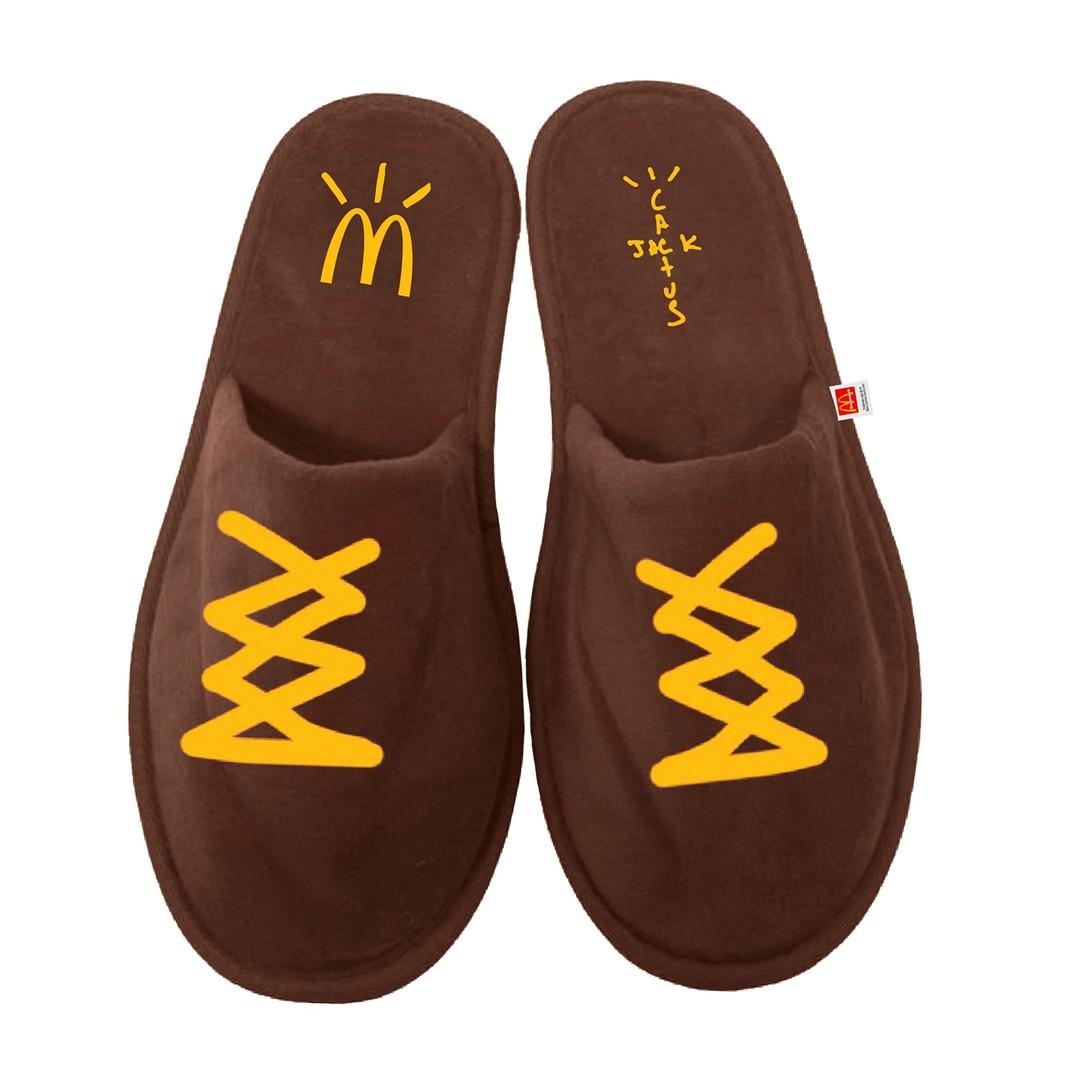 Travis Scott x McDonald's pantofole