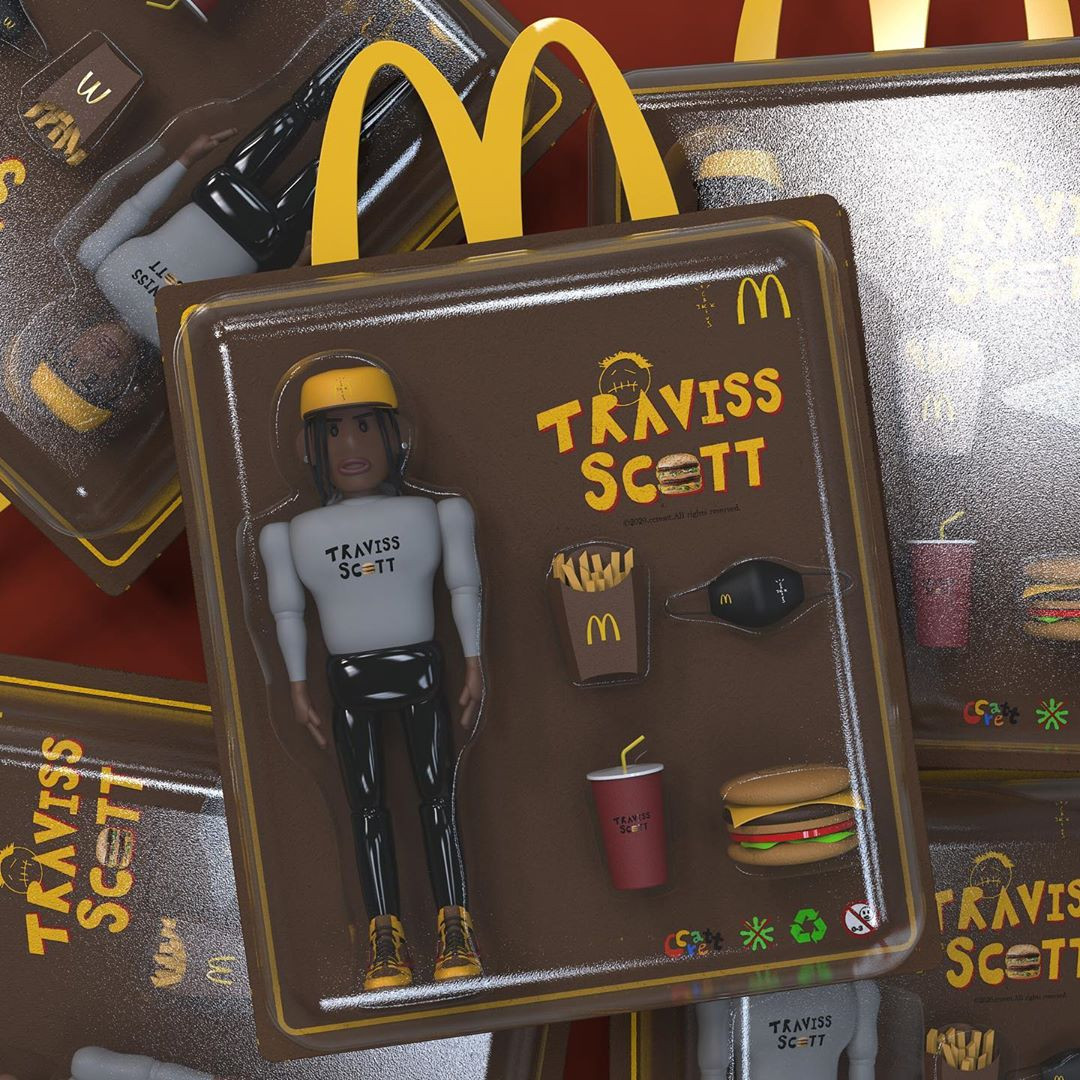 Travis Scott x McDonalds action figure